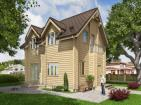 Одноэтажный дом с мансардой и и балконом